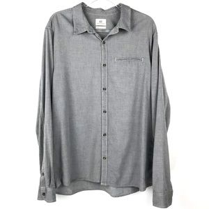 Men's Adriano Goldschmied Gray Long Sleeve Shirt